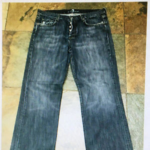 """MANKIND Jeans 36 x 33"""" Distressed Button Fly Boot"""